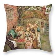 The Cherry Woman Throw Pillow