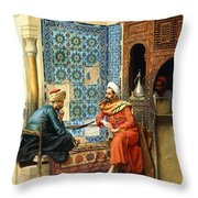 The Chess Game Throw Pillow