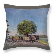 The Chestnut Tree At Saint-mammes Throw Pillow