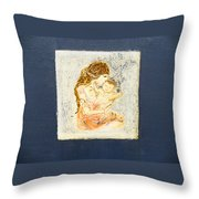 The Child And The Mother. Throw Pillow