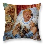 The Childhood Of Pantagruel Throw Pillow