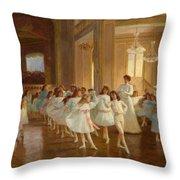 The Children's Dance Recital At The Casino De Dieppe Throw Pillow