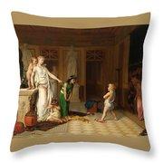 The Children's Quarrel Throw Pillow