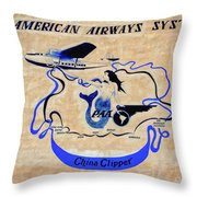 The China Clipper Throw Pillow