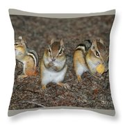 The Chipmunks Throw Pillow