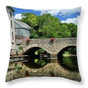The Choate Bridge Throw Pillow