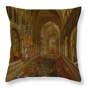 The Choir - Canterbury Cathedral Throw Pillow