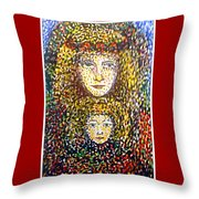The Chosen One With The Holy Child Throw Pillow