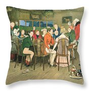 The Christmas Dinner At The Inn Throw Pillow