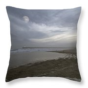 The Christmas Moon Throw Pillow