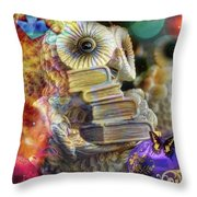 The Christmas Owl  Throw Pillow