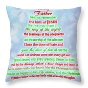 The Christmas Prayer Throw Pillow