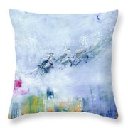 The Christmas Wrapping By Lisa Kaiser Throw Pillow
