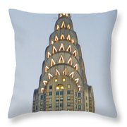 The Chrysler At Dusk Throw Pillow