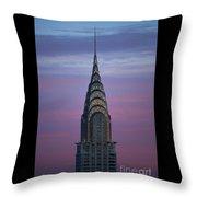 The Chrysler Building At Dusk Throw Pillow