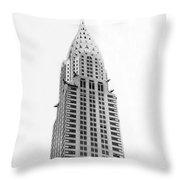 The Chrysler Building Throw Pillow