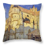 The Church At Moret Throw Pillow