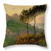 The Church At Varengeville Against The Sunlight Throw Pillow by Claude Monet