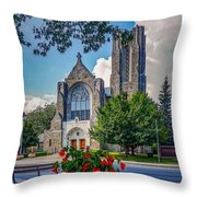 The Church In Summer Throw Pillow