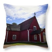 The Church Of Kustavi Throw Pillow