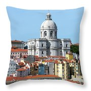 The Church Of Santa Engracia And Rooftops -- Lisbon Throw Pillow