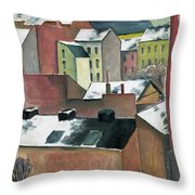 The Church Of St Mary In Bonn In Snow Throw Pillow