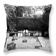 The Churchyard Throw Pillow