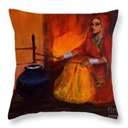 The Churning Throw Pillow