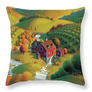 The Cider Mill Throw Pillow