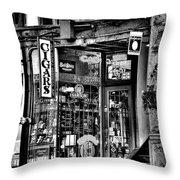 The Cigar Store Throw Pillow
