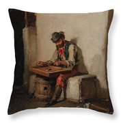 The Cimbalom Player Throw Pillow