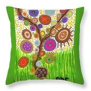 The Circle Tree Throw Pillow