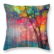 The Circus Tree Throw Pillow