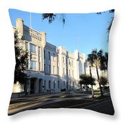 The Citadel In Charleston IIi Throw Pillow
