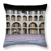 The Citadel In Charleston Iv Throw Pillow