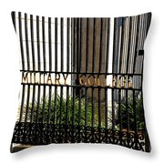 The Citadel In Charleston V Throw Pillow