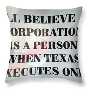 The Citizens United Case Was A Disaster For Our Secular Pluralistic Republic. Throw Pillow