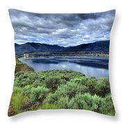 The City And The Clouds Throw Pillow