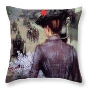The City Atlas Throw Pillow by Sidney Starr