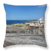 The City Awaits Throw Pillow