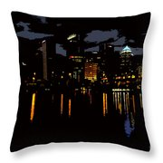 The City Dark Throw Pillow