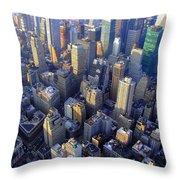The City II Throw Pillow