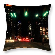 The City In A Rush Throw Pillow