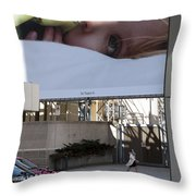 The City Is Watching Throw Pillow