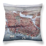 The City Of Boston Throw Pillow