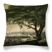 The City Of Philadelphia In The State Of Pennsylvania. North America Throw Pillow