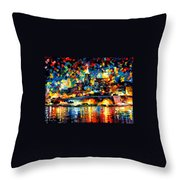 The City Of Valetta - Malta Throw Pillow