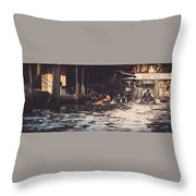 The City On The Water. Thailand. Throw Pillow