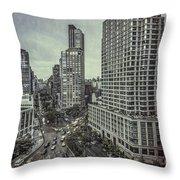 The City Shuffle Throw Pillow