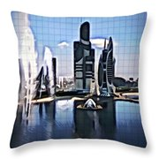 The City That Isn't Throw Pillow
